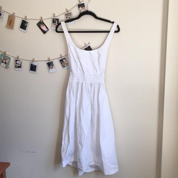 9b1fd63510ae ZARA Trafaluc Cotton Tie Back Midi Dress. M_5ac0e7769d20f0115805579b